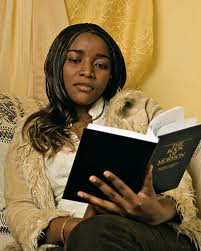woman reading scripture